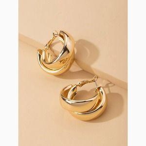 3/$30 Layered Twist Statement Hoop Earrings